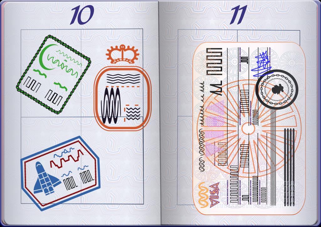 graphic, passport, visas